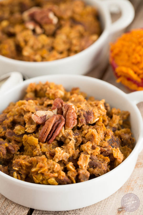 Pumpkin Spice Baked Oatmeal - Table for Two