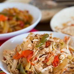 The easiest, no-effort, slow cooker dish ever! Slow cooker chicken fajitas are the PERFECT weeknight meal!!