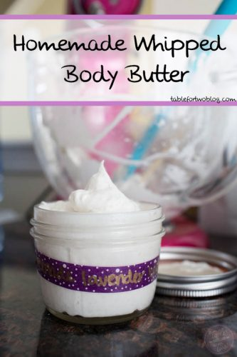 Homemade whipped body butter is a perfect gift for anyone! It's easy to make and it's like having a luxurious spa treatment at home!