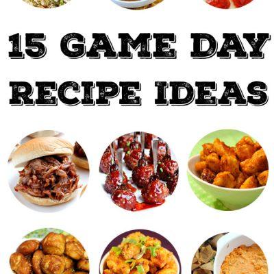 15 Game Day Recipe Ideas on tablefortwoblog.com