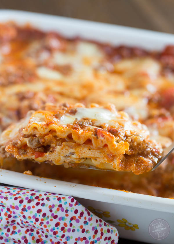 Spicy Meaty Lasagna Is The Perfect Party Casserole This Is A Crowd Pleaser