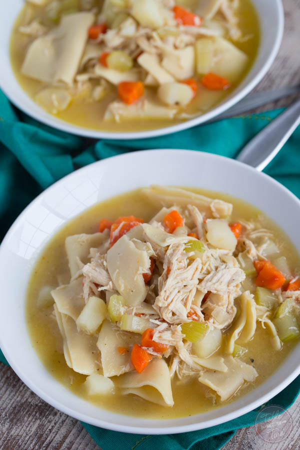 A traditional Pennsylvania Dutch Chicken Pot Pie is what you'll need to remind you of grandma's cooking! It is pure comfort and nostalgia in a bowl!
