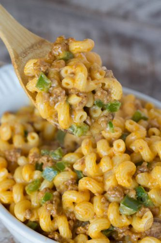 Chorizo mac and cheese is a fun spin on the classic mac and cheese. The spiciness of the chorizo mixed in with the creamy cheese is pasta perfection!