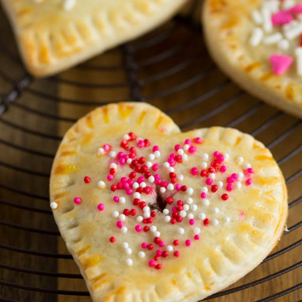 Fill your day with some love from these mini heart-shaped hand pies! You can't help but smile when you look at them!