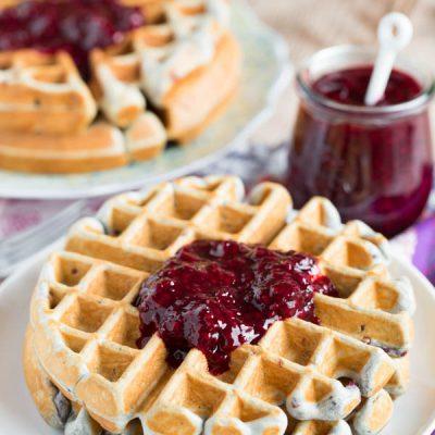 Blackberry lemon waffles make the perfect brunch entree!