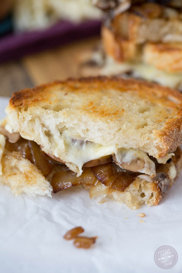 Caramelized Onion, Mushroom, and Swiss Melt - Table for Two