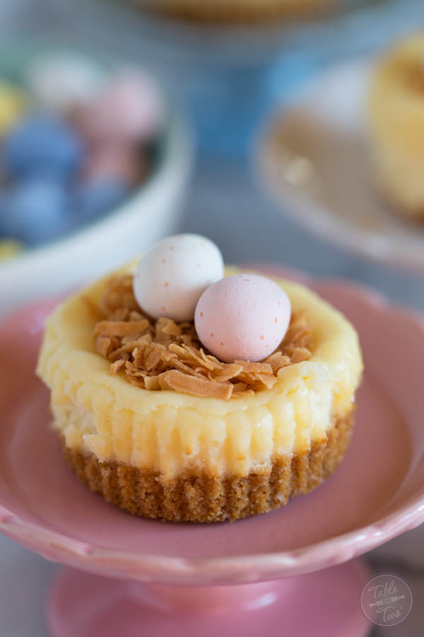 Cute mini cheesecake nests are perfect for Easter and a great activity ...