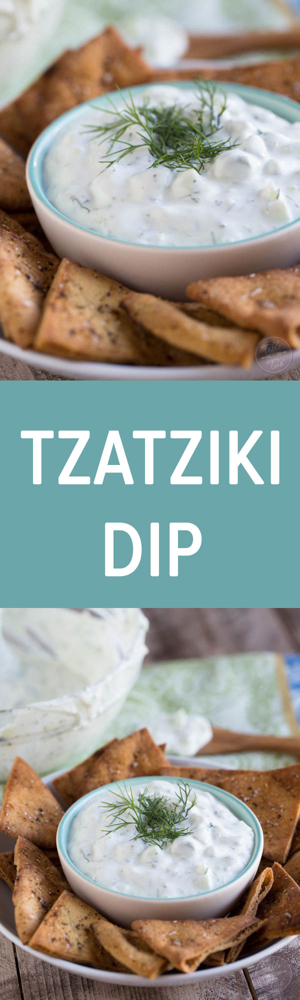 Homemade tzatziki dip is a refreshing appetizer for any crowd!