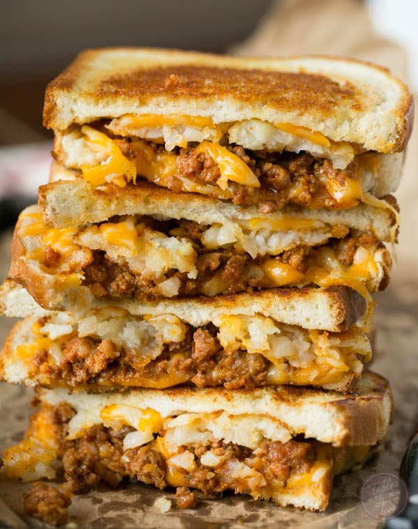 Tater Tot Grilled Cheese Bacon Waffle Sandwich Recipe ...
