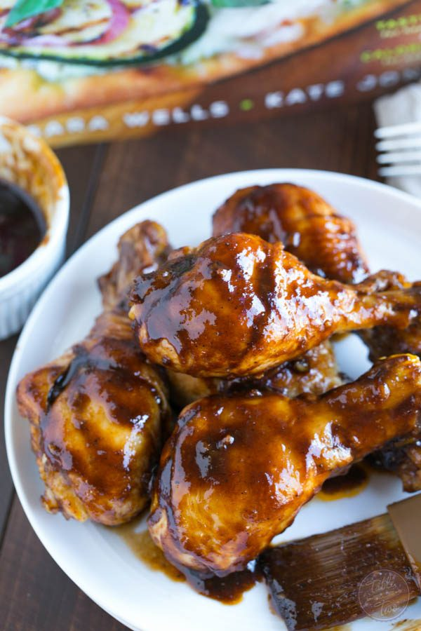 Honey balsamic drumsticks are less than 400 calories but don't let that fool you! They're PACKED with flavor and so moist and juicy!