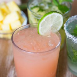 Grapefruit plus booze equals a delicious paloma! Recipe video on the blog!
