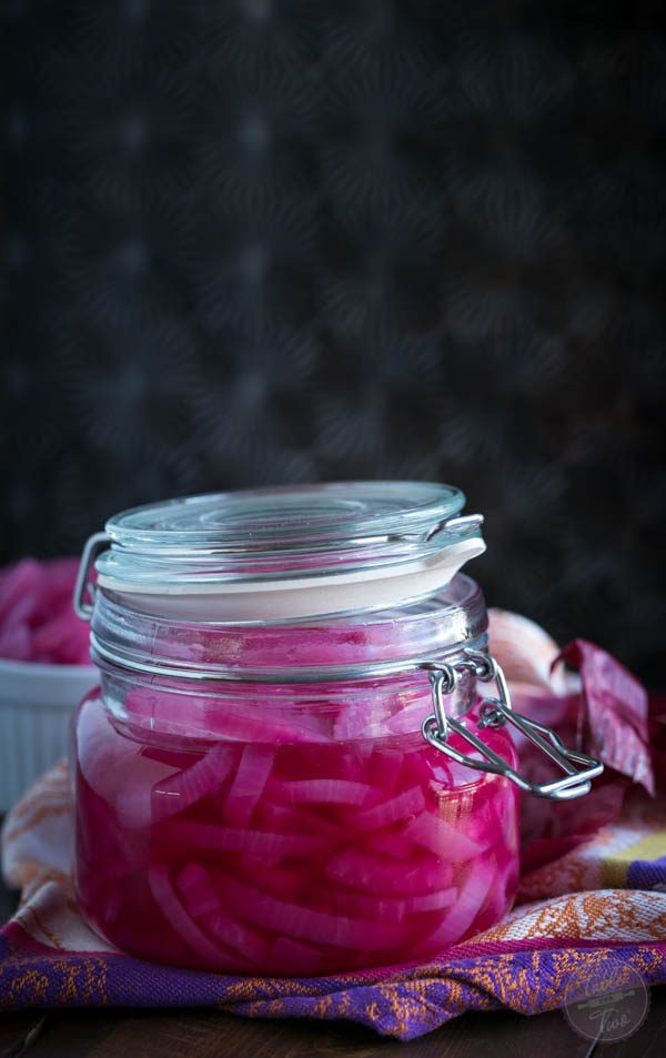 Making pickled red onions could not be simpler! With the tangy sweet results, you are going to want to top this on every dish you can think of!