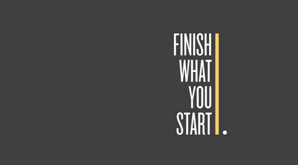 start-what-you-finish