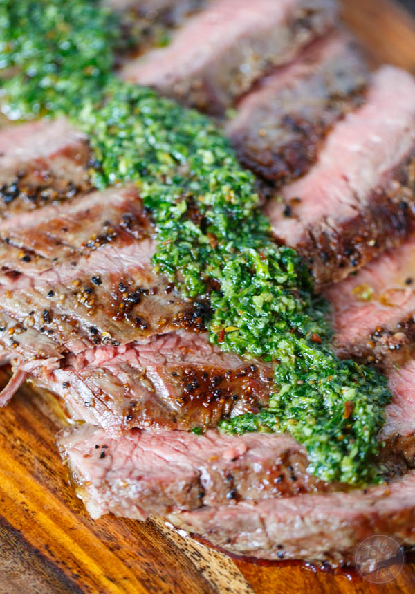 Grilled Flank Steak with Chimichurri - Table for Two