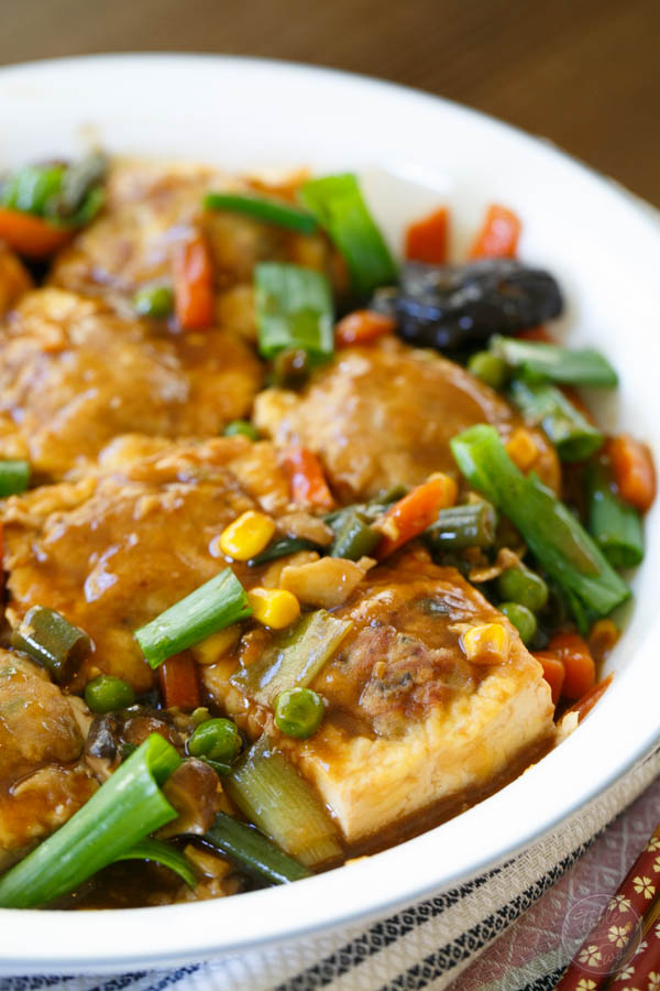 Stuffed tofu is a childhood favorite of ours and maybe it will be one of your favorites too!