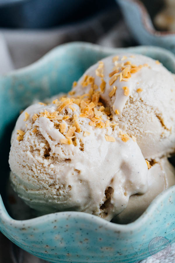 This paleo-friendly coffee coconut milk ice cream is a dream! You'll want to whip up a batch and have a couple scoops before it disappears!