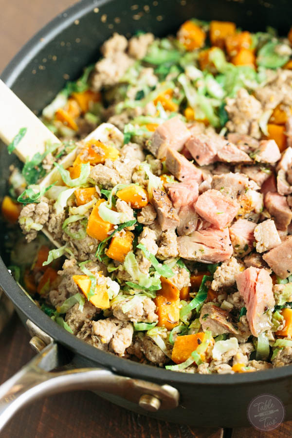 Whether you have ingredients going bad in the fridge or you're looking for a quick and easy meal, make this kitchen sink paleo hash for a satisfying and filling meal that is healthy and paleo-friendly!