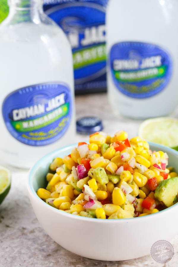Corn and avocado salsa is the perfect appetizer for your next summer getaway!
