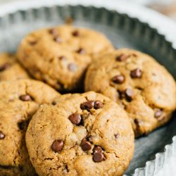 If you're looking a super quick and easy cookie recipe that is flourless and paleo-friendly, this is the recipe for you! 7 ingredients, one bowl, one dozen cookies to fix that cookie craving!