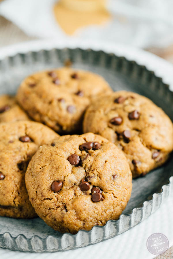 Flourless Cashew Butter Chocolate Chip Cookies - Table for Two