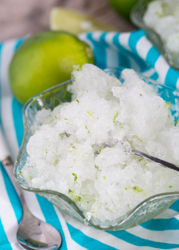 Coconut Lime Granita made with coconut water is the ultimate summer cool-down recipe!