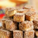 Apple spice cinnamon sugar pound cake bites are the ultimate treat to serve your friends and family! You'll love coating your Sara Lee All-Butter Pound cake with this sweet Fall mixture! #sponsored #UniquelyYours