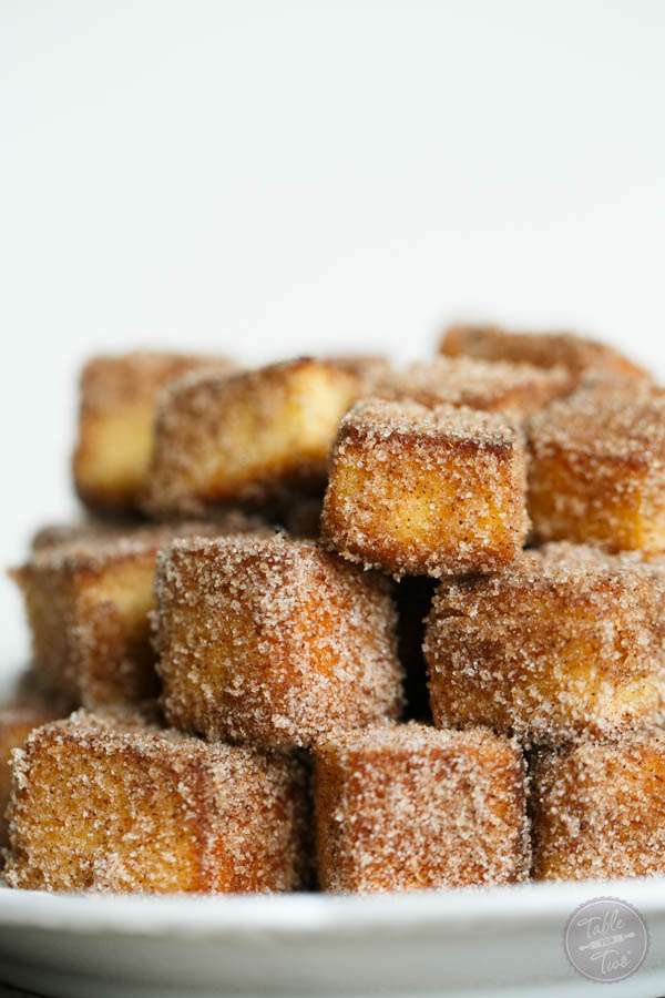 Apple spice cinnamon sugar pound cake bites are the ultimate treat to serve your friends and family! You'll love coating your pound cake with this sweet Fall mixture! #sponsored #UniquelyYours
