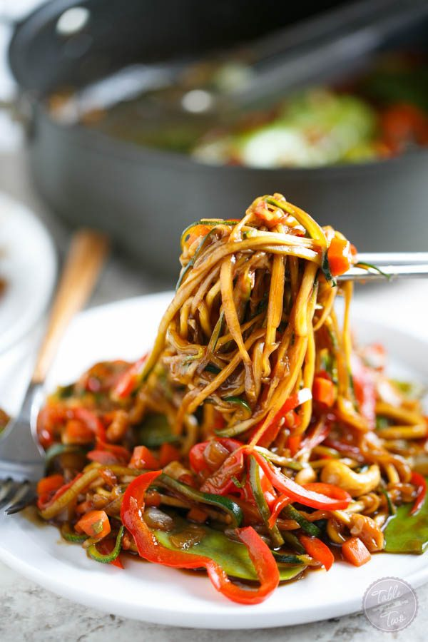 Zucchini Noodle Cashew Stir Fry Table For Two | Autos Post