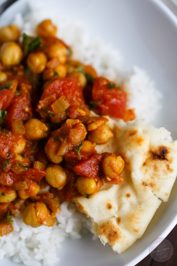 If you love Indian flavors, chana masala is a quick and easy way to enjoy this flavorful, warm, and hearty classic Indian dish!