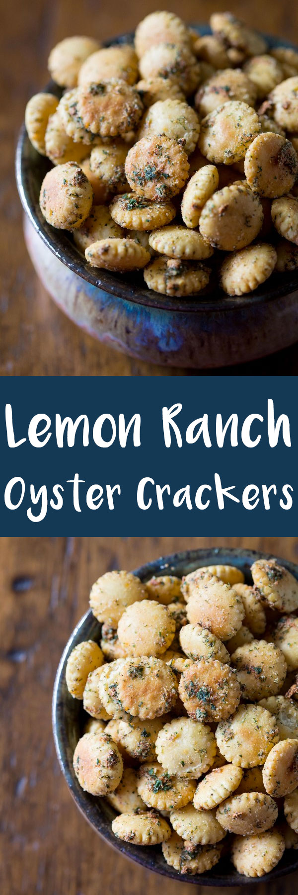 You're going to be snacking on these lemon ranch oyster crackers all day! They've got the perfect amount of spices and they go with everything! I dare you to eat just a handful. #sponsored