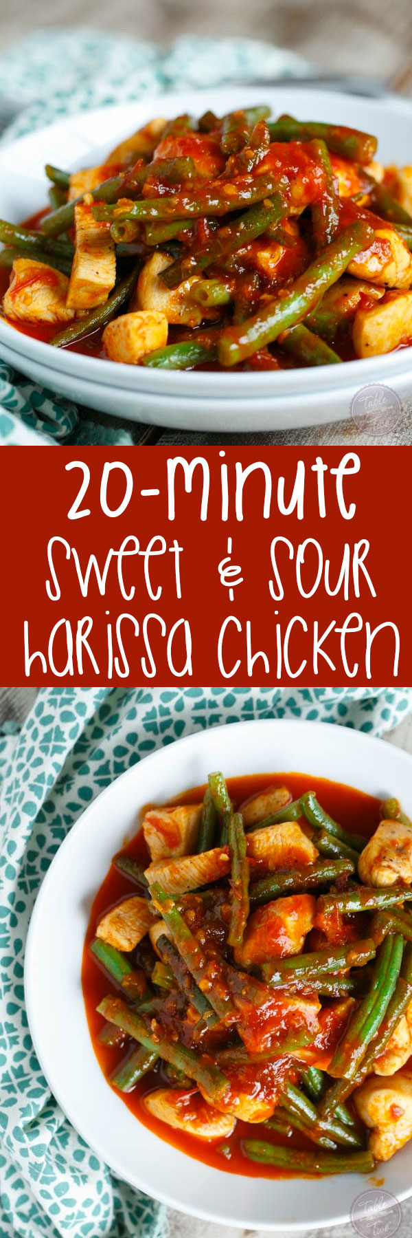 This 20-minute sweet & sour harissa chicken and green beans is the perfect combo of flavors for your weeknight dinner!