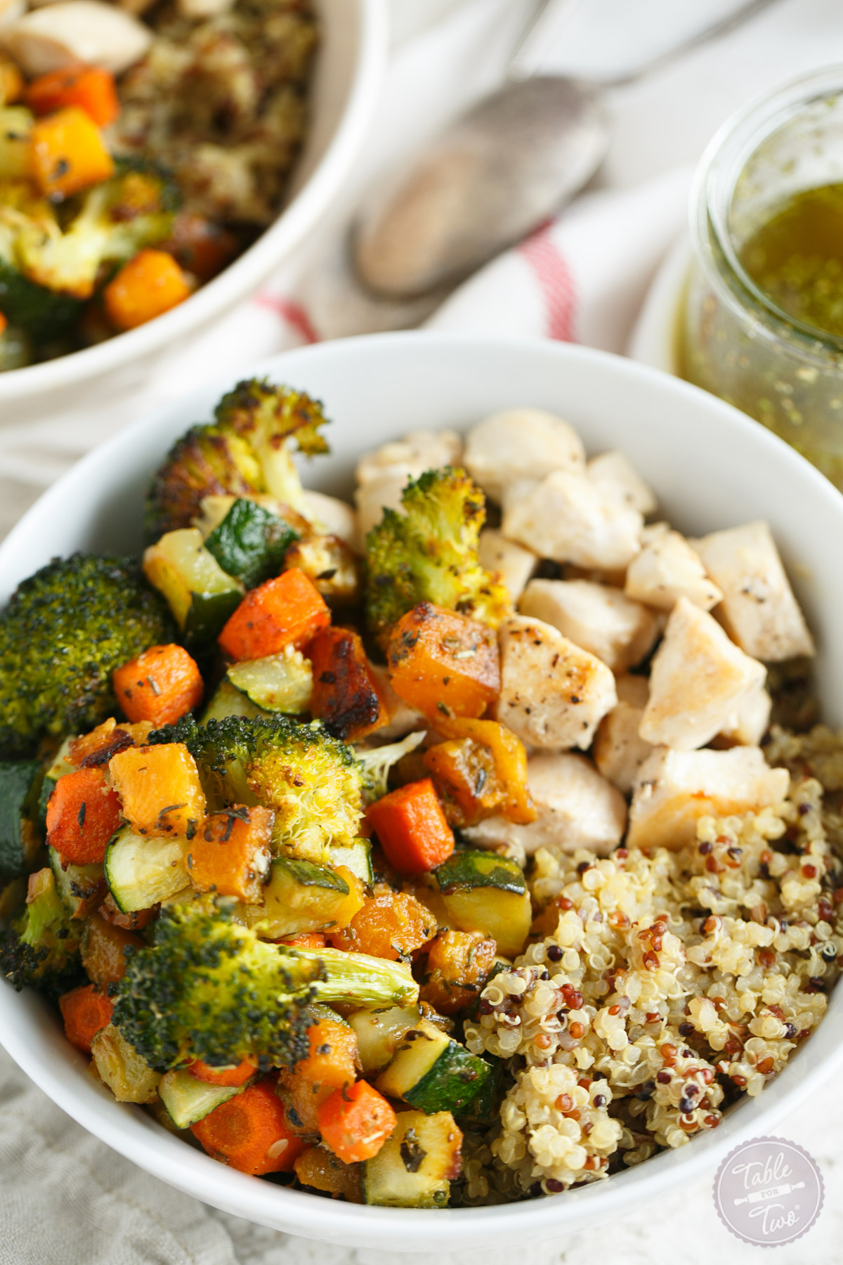 Quinoa Bowls with Roasted Vegetables and Chicken - Table ...