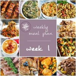Table for Two Weekly Meal Plan - Week 1