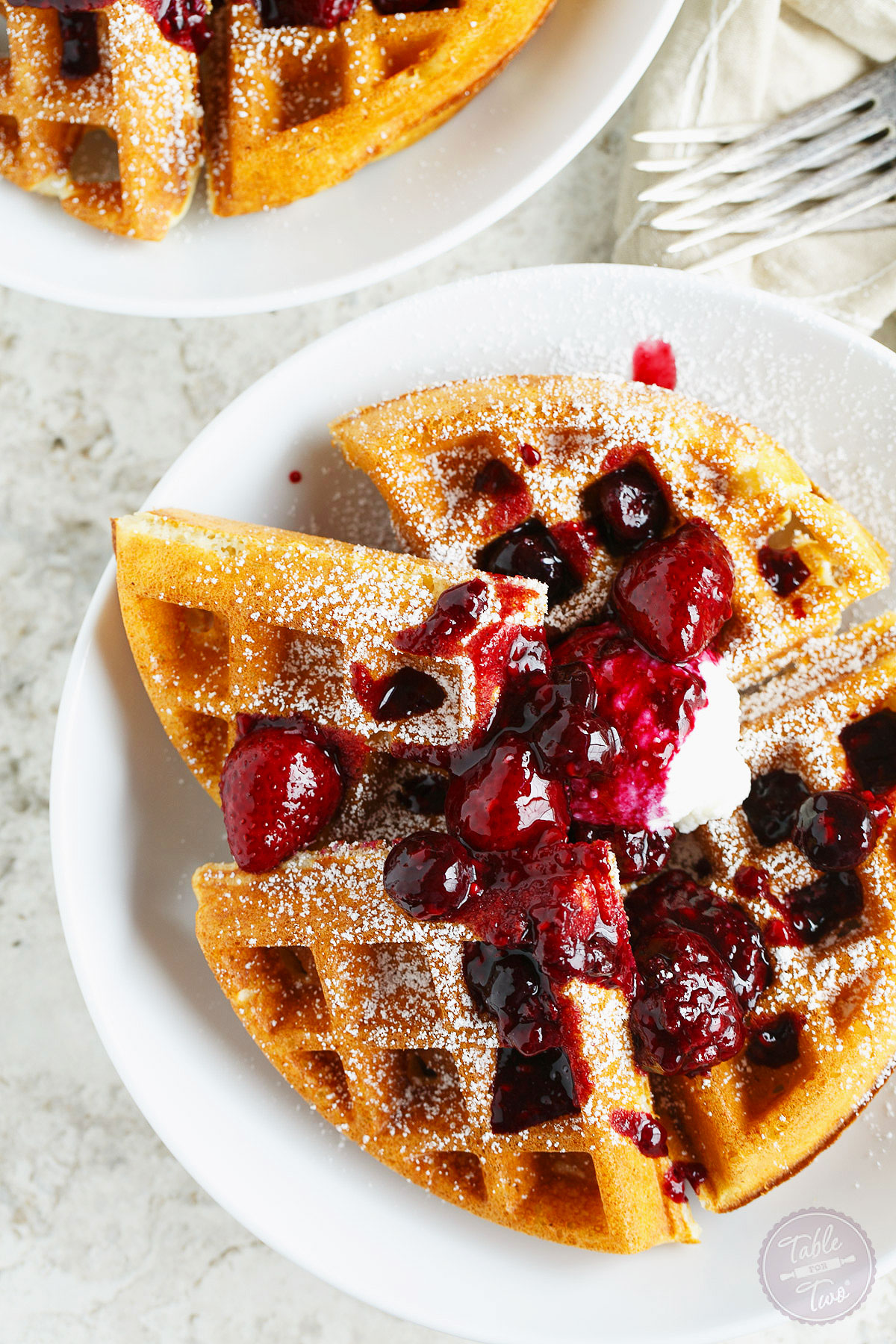 Yeasted Berry Waffles Aka The Best Waffles Ever Table