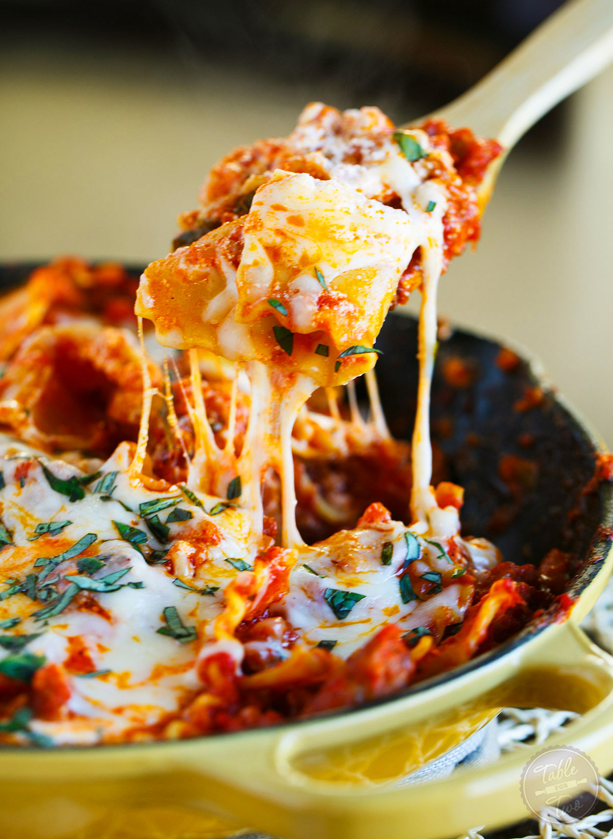 Ultimate Skillet Lasagna Table For Two 174 By Julie Wampler
