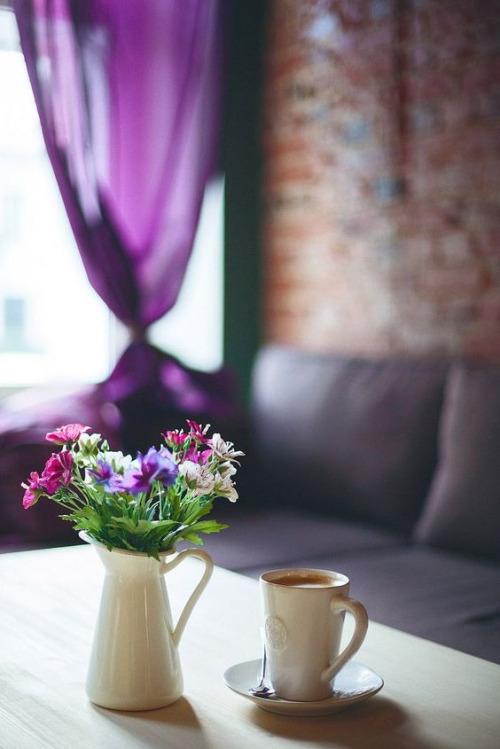 flowers-coffee