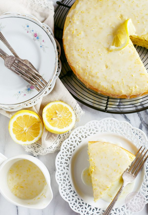 This lemon cornmeal cake is the ultimate way to ring in spring! It's so light and cornmeal gives this cake a subtle but distinct texture! You will love the glaze on top too. If you love all things lemon, this cake has your name on it!