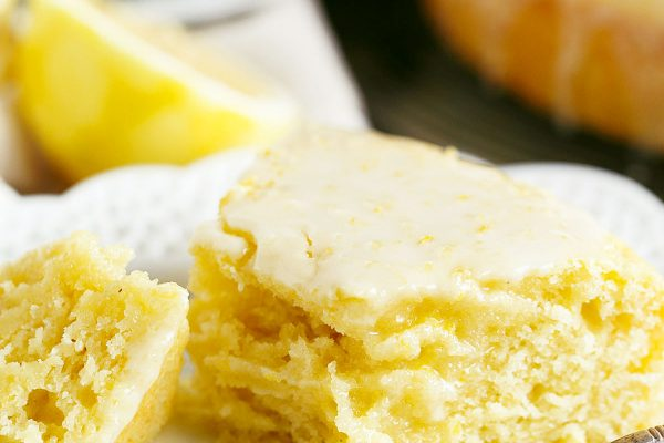 This lemon cornmeal cake is the ultimate way to ring in spring! It's so light and cornmeal gives this cake a subtle but distinct texture!