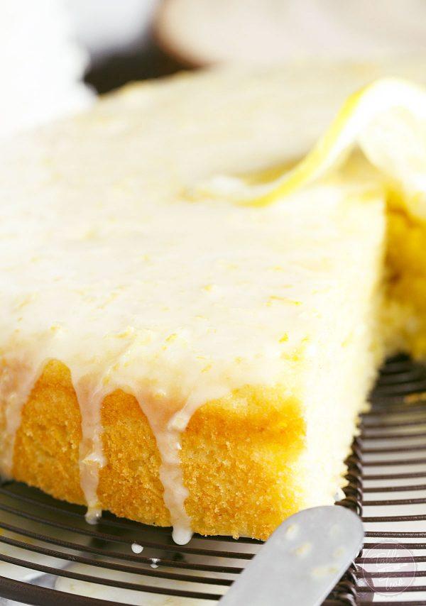 Lemon Cornmeal Cake With Lemon Glaze