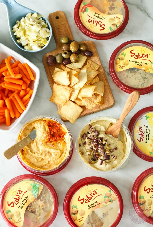 Having an unofficial meal by having a hummus party with friends! #hummusparty #sabra