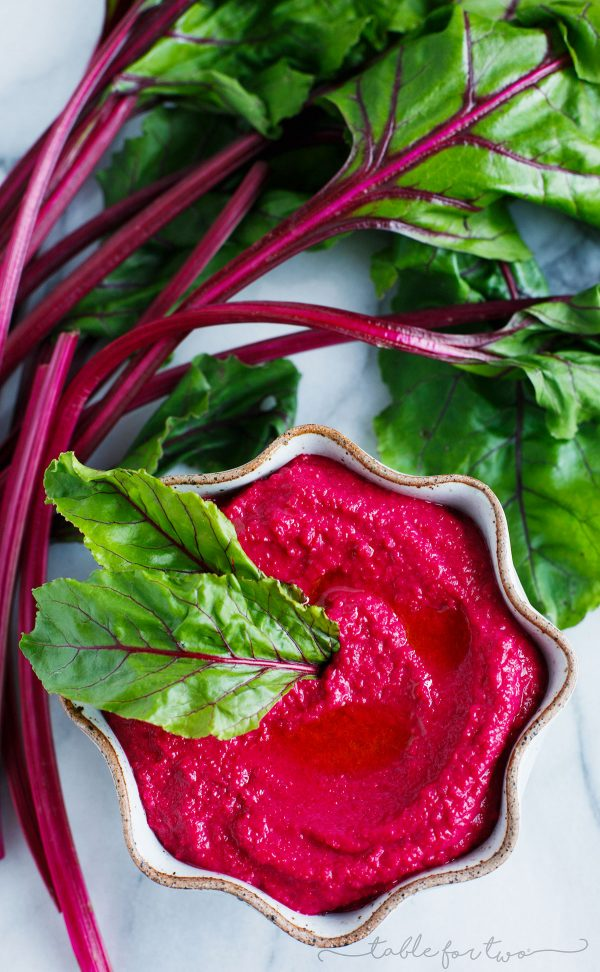Your tastebuds won't miss a beet when you make this beet hummus! Its vibrant color will attract anyone over to dip to their heart's content!