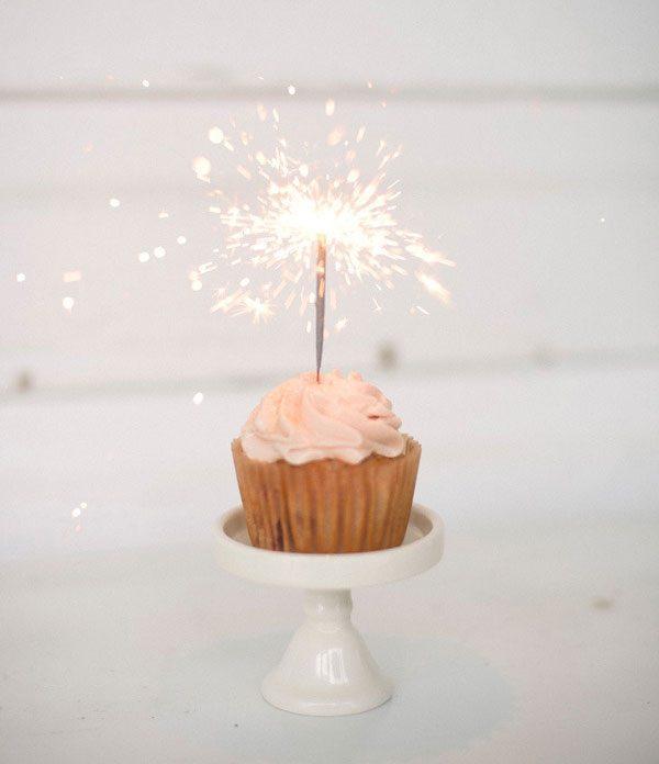 Celebration cupcake sparkler