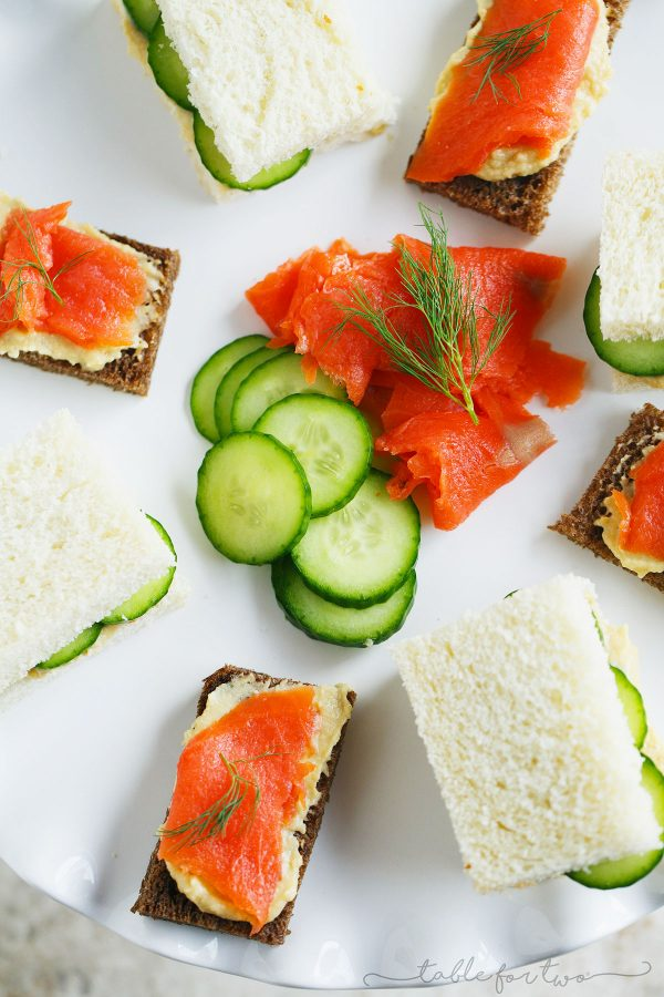 Celebrate National Hummus Day with this twist on English tea sandwiches! #NationalHummusDay #ad