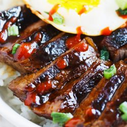 These Korean galbi bowls are so full of flavor after marinating them in a delicious sauce overnight! Build your Korean galbi bowl however you want with whatever you desire!