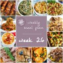 Table for Two's Weekly Meal Plan - Week 26
