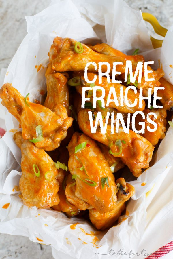 You'll never want to have buffalo sauce again after you try these crème fraîche wings with spicy gochujang sauce. The flavor is irresistible! It's both refreshing and spicy at the same time. A tastebud trick, for sure!