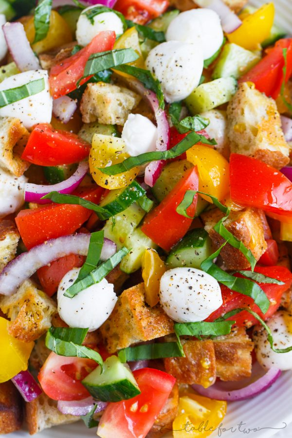 Summer Panzanella - Table for Two