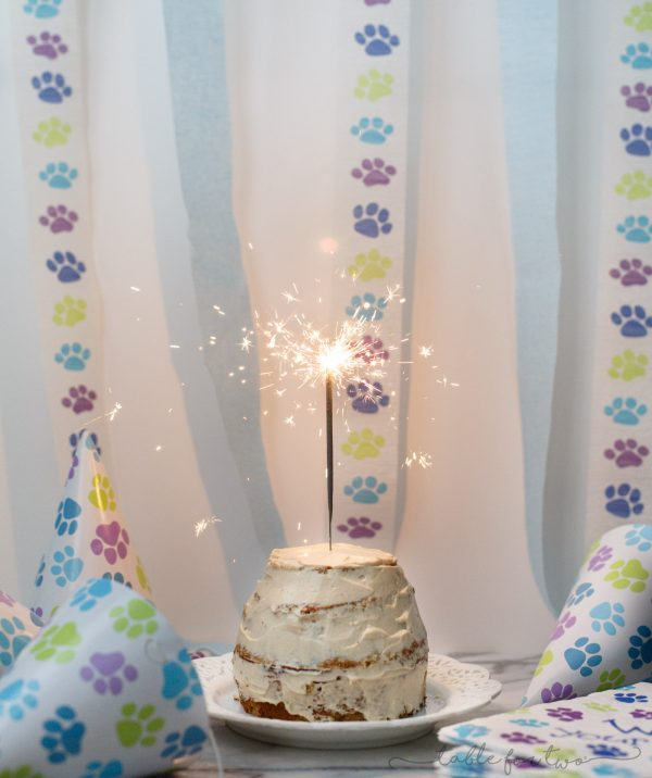 Make a grain-free dog cake for your furry family member!