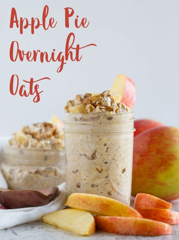 The apple pie flavor without the actual effort to make the apple pie to get the flavor! Apple pie overnight oats are yet another great flavor of oats to add to your morning routine! No more skipping breakfast when you've got yourself apple pie overnight oats sitting in the fridge waiting for you!