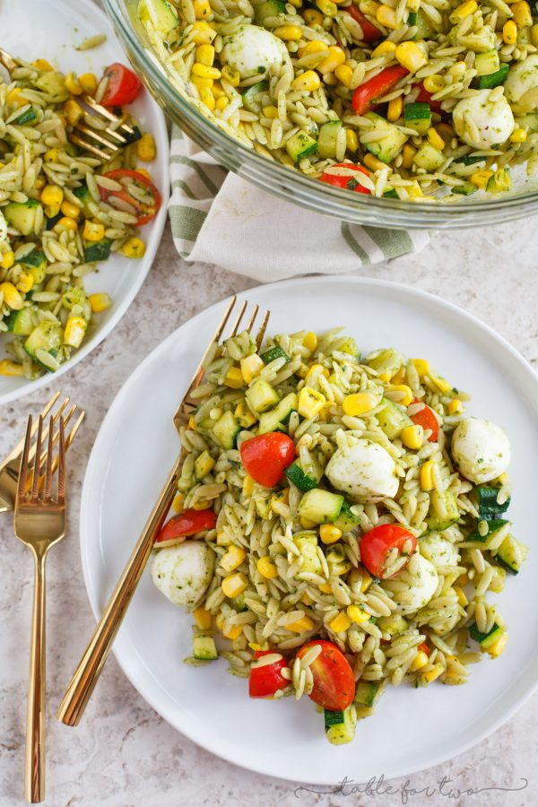 corn and zucchini orzo salad recipe yummly chopped salad with orzo ...